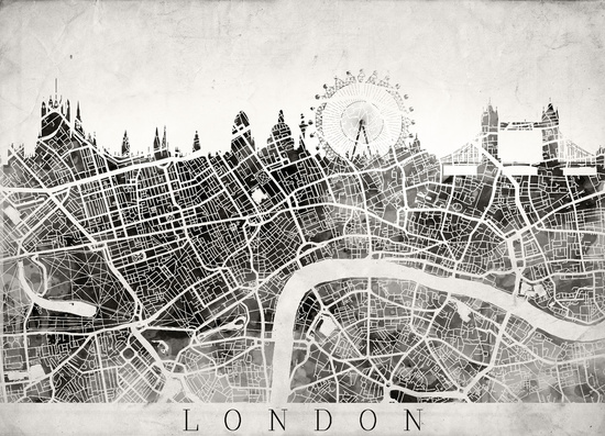 'London Skyline' by Map Map Maps