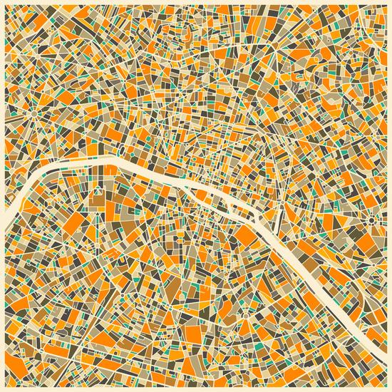 'Paris Map' by Jazzberry Blue