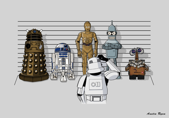 'Star Wars Droid Lineup' by RebelArtCollective