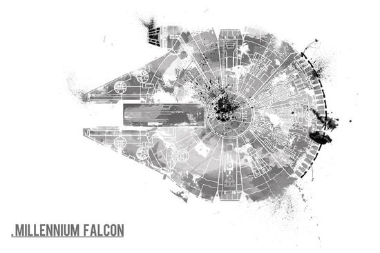 'Star Wars Vehicle Millennium Falcon' by Nicholas Hyde