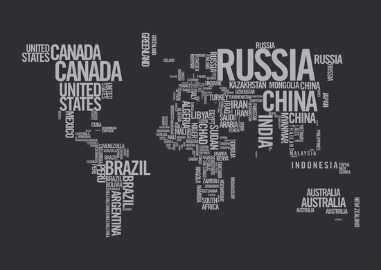 'World Map - Atlas' by Rothko